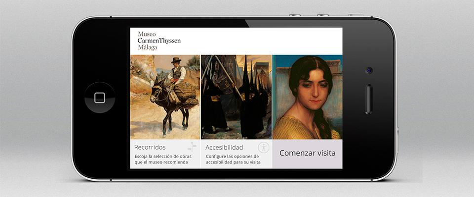 El Museo Carmen Thyssen Málaga estrena una app accesible para la visita a su Colección