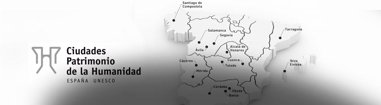 Città Patrimonio dell'Umanità in Spagna <br> Gruppo Città Patrimonio dell'Umanità