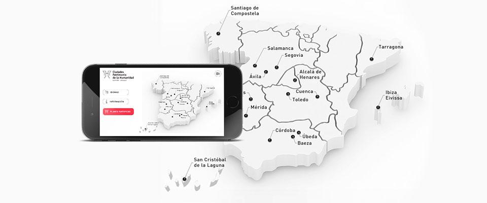 Las 15 Ciudades Patrimonio de la Humanidad estrenan su app de turismo cultural por España