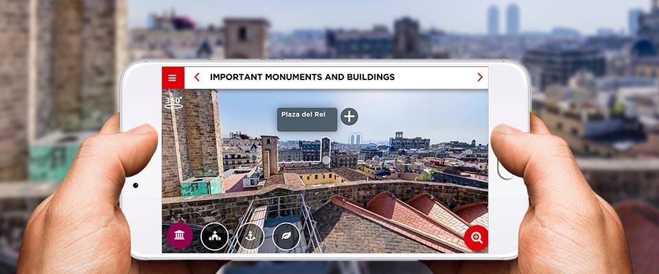 Audioguía 360º para la visita a las terrazas de la Catedral de Barcelona
